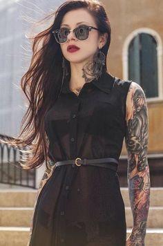 Tattoo Files Vol.6 – Perception 8 #tattoo #girl #model #beautiful #ink #tattoosleeve #greeneyes #blackhair #sexy #tattooart http://www.perception8.com/2016/03/17/tattoo-files-vol-6/