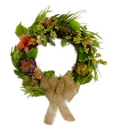 Spring Rustic Flower Lily Berry Hydrangea Grapevine Twig Door Wreath Home Decor Silk Floral Arrangement