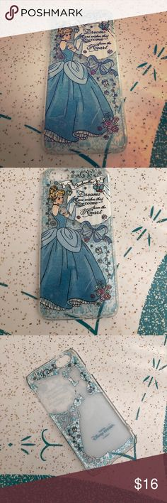 Tokyo Disneyland Cinderella Case iPhone 6s From Tokyo Disneyland (exclusive). Thin plastic Case. Some minor wear (see pictures). Accessories Phone Cases