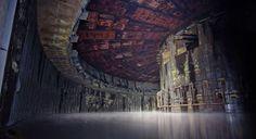 Fábrica de cohetes abandonada en Rusia. La fábrica es (o era) propiedad de NPO Energomash, fabricantes de los más modernos cohetes espaciales, usados hasta la actualidad, como el motor RD-180. #abandoned places #lugares abandonados