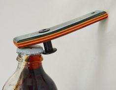 Christmas gift for him.   Bottle Opener made from Reclaimed Skateboards