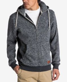 201c13c080 Quiksilver Men s Keller Full-Zip Hooded Sweatshirt