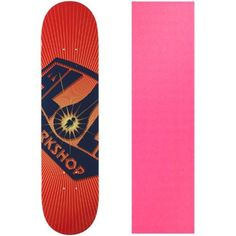 Alien Workshop Skateboard Deck OG Burst Small 7.75' Pink Grip, Red