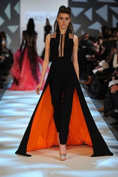 Georges Chakra - Couture - Spring-summer 2013. I love pant/skirts!