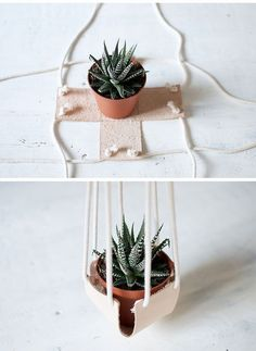 DIY Plantas colgantes para decorar de forma diferente diy home plants DIY Plantas colgantes para decorar de forma diferente Diy Plants, Dulux Valentine, Small Cactus, Creation Deco, Aesthetic Room Decor, Ideias Diy, Diy Home Decor Projects, Decor Ideas, Hanging Planters