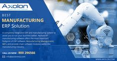 Every manufacturing process is complex and consisting of multiple steps. To maximize profits, AxolonERP provides you the ways to streamline every single operation and reduce the manufacturing time/complexity. Call Toll free now on ☎ 800296566 to get more details. #Manufacturing #ManufacturingSoftware #ManufacturingERP #ManufacturingSolution #ManufacturingIndustry #ManufacturingIndustrySoftware #ManufacturingIndustrySolution #Axolon #AxolonERP