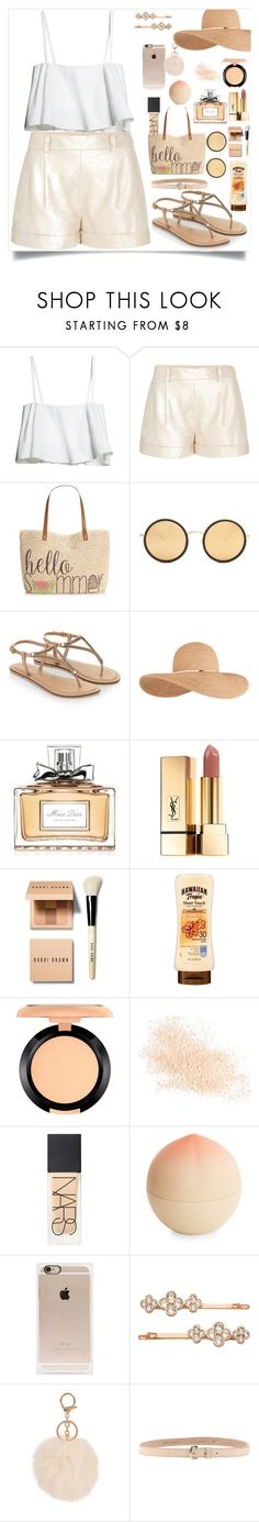 """""""Nude Summer Outfiiit"""" by naomy-nona ❤ liked on Polyvore featuring Diane Von Furstenberg, Style & Co., Linda Farrow, Accessorize, Eugenia Kim, Christian Dior, Yves Saint Laurent, Bobbi Brown Cosmetics, MAC Cosmetics and Eve Lom"""
