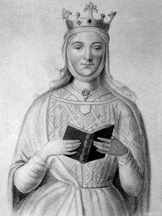 Eleanor of Aquitaine, b.1124 d.01 April 1204, wife of Henry II & Queen Consort. Eight children.