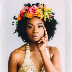 10 Natural Hair Bridal Styles We Are Absolutely Loving  -                 grimcdee
