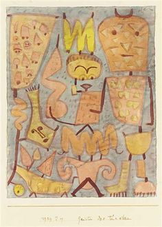 Paul Klee, Geister des Theaters (Spirits of the Theatre)  1939  watercolor on paper attached to the artist's mount