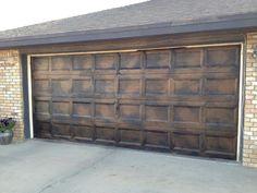 Garage Door Painted And Glazed!