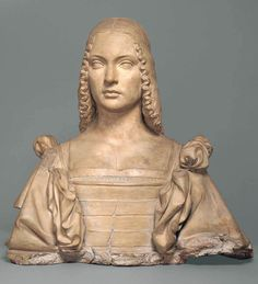 Gracie Collins • 2 hours ago ROMANO, Giovanni Cristoforo (b. ca. 1465, Roma, d. 1512, Loreto) reverse view of Terracotta bust of Isabella d'Este, Marchioness of Mantua. Kimbell Art Museum, Fort Worth, USA