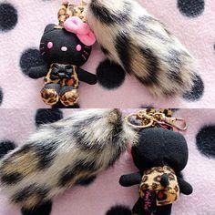 HK leopard key chains. <3 HELLO KITTY VIVITIX, website found on google to order