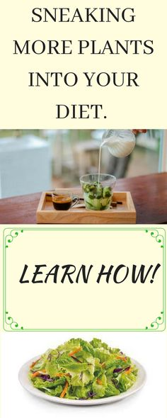 SNEAKING MORE PLANTS INTO YOUR DIET. LEARN HOW!