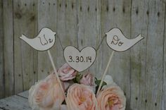 rustic cake topper, we do cake topper, personalized reception decor, rustic wedding, cottage chic wedding $35