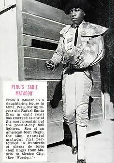 Promising Black Matador Rafael Santa Cruz - Jet Magazine, August 27, 1953 by vieilles_annonces, via Flickr