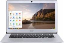 "Acer - 14"" Chromebook - Intel Celeron - 4GB Memory - 32GB eMMC Flash Memory - Sparkly silver - Larger Front"