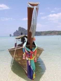 Long Tail Boat, Phi Phi Long Beach, Thailand.