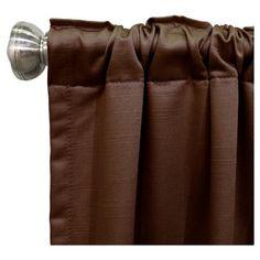 "Shantung Blackout Curtain Panel Brown (50""x120"") - Skyline Furniture"
