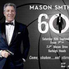 James Bond Invitation. Skyfall James Bond Invitation. Became James Bond in Skyfall for your 60th Birthday or any milestone birthday