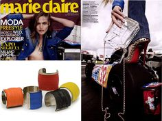 On Marie Claire a Tyre Bracelet by Carmina Campus