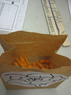 Teaching pollination with Cheetos - brilliant! - from Little Warriors - Great science project for zoology!