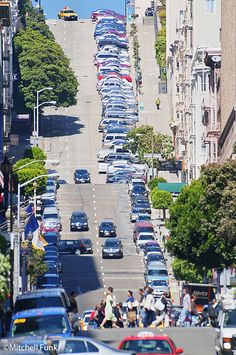 Mason Street Looking Up To Nob Hill, San Francisco By Mitchell Funk   www.mitchellfunk.com