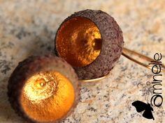 Ohrhänger & Ohrringe - Goldeicheln - ein Designerstück von aminelle bei DaWanda