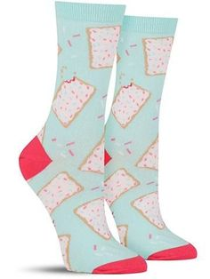 """Can socks be both crumby and amazing at the same time? Yes, when you're talking about these fun """"toe-ster pastry"""" socks featuring your beloved Pop-Tarts."""