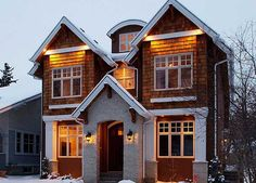 Canterra Custom Homes Ltd. Home Builders, Custom Homes, Luxury Homes, Exterior, Cabin, Mansions, House Styles, Beautiful, Home Decor