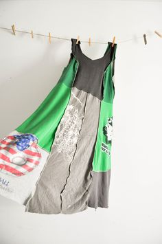 use old tshirts and alabama chanin pattern to make upcycled dress