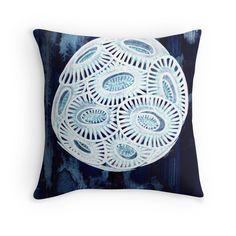 """Coccolithophore"" Throw Pillows by joancaronil | Redbubble"