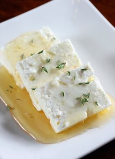 Feta cheese with Greek honey