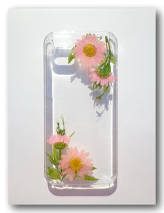 Handmade iPhone 5/5s case, Resin with Dried Flowers, Pressed flower art (181)