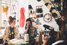 Susie Bubble wearing personalised crocheted denim jacket by Katie Jones #susielau #stylebubble