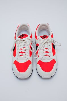 Nike Air Shoes Red and White