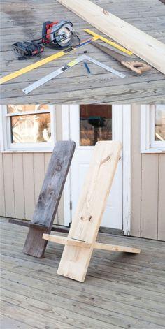 Silla minimalista DIY con una tabla / Vía http://www.instructables.com/