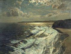 Albert Julius Olsson Moonlit Shore 1911