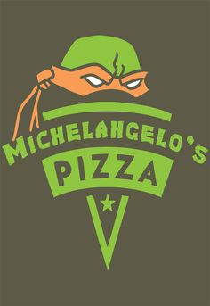 Michelangelo's Pizza T-Shirt Designed by snomaddesigns