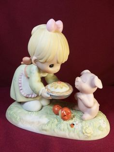 Precious Moments Figurine // You're Just As Sweet as Pie by RoseMaryFavors, $65.00