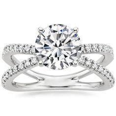 18K White Gold Bisou Diamond Engagement Ring