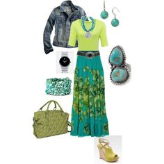 Lime and Teal, created by aldowney.polyvore.com