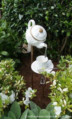 Wonderful Vintage Garden Decor Ideas 023