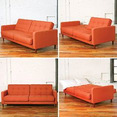 Either/Or Convertible Sofa from Urban Outfitters    PERFECT for guests in a small apartment