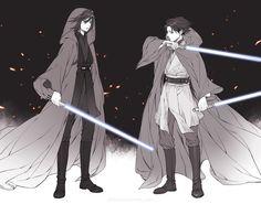 Mikasa and Levi Jedi