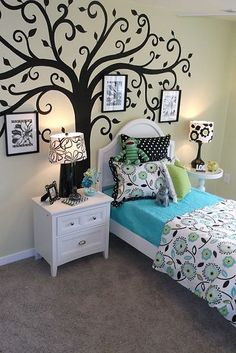 Recent Job for Terri Kemp Interiors. This painted tree is available as a decal at www.etsy.com/shop/AnitaRoll