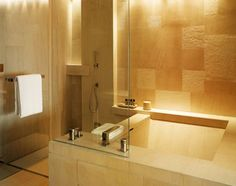 Beijing, China, Asia: The bathroom of a Park Room at the Park Hyatt Beijing