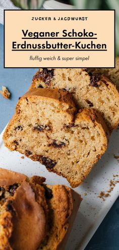 Veganer Erdnussbutter-Kuchen Vegan peanut butter cake with chocolate Cake Recipes Without Oven, Cake Recipes From Scratch, Easy Cake Recipes, Healthy Dessert Recipes, Health Desserts, Easy Desserts, Dessert Simple, Bon Dessert, Dessert Food