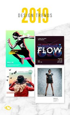 Stay innovative and fresh in 2019 with these graphic design trends. Sports Graphic Design, Graphic Design Tools, Graphic Design Tutorials, Ad Design, Graphic Design Inspiration, Flyer Design, Layout Design, Marketing, New Energy