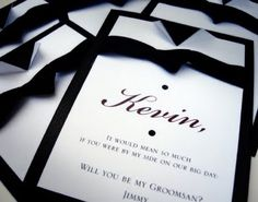 Will you be my groomsman? Tie Card